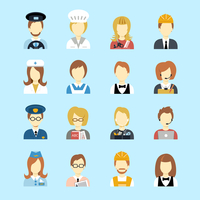 Set of occupations profession peoples avatar in flat color style vector illustration 60016003155| 写真素材・ストックフォト・画像・イラスト素材|アマナイメージズ