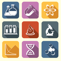 Physics science laboratory equipment scientific flat education icons set isolated vector illustration 60016003231| 写真素材・ストックフォト・画像・イラスト素材|アマナイメージズ