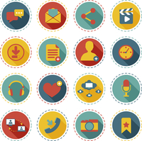 Social network icons round buttons set with communication elements isolated vector illustration 60016003345| 写真素材・ストックフォト・画像・イラスト素材|アマナイメージズ