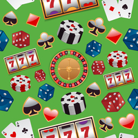 Casino color design elements with gambling poker roulette seamless pattern vector illustration 60016003410| 写真素材・ストックフォト・画像・イラスト素材|アマナイメージズ