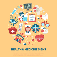 Hospital medical and ambulance signs composition health care concept vector illustration 60016003422| 写真素材・ストックフォト・画像・イラスト素材|アマナイメージズ