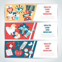 Health care and medicine medical horizontal banners set isolated vector illustration. 60016003423| 写真素材・ストックフォト・画像・イラスト素材|アマナイメージズ