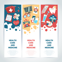 Health care and medicine medical vertical banners set isolated vector illustration 60016003424| 写真素材・ストックフォト・画像・イラスト素材|アマナイメージズ