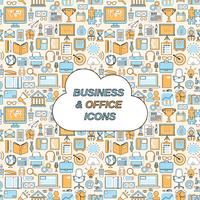 Business and office icons seamless pattern vector illustration 60016003440| 写真素材・ストックフォト・画像・イラスト素材|アマナイメージズ