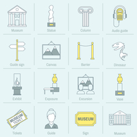 Museum icons flat line set of statue column audio guide isolated vector illustration 60016003498| 写真素材・ストックフォト・画像・イラスト素材|アマナイメージズ