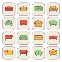 Sofa comfortable couches modern and vintage furniture icons set isolated vector illustration 60016003665| 写真素材・ストックフォト・画像・イラスト素材|アマナイメージズ