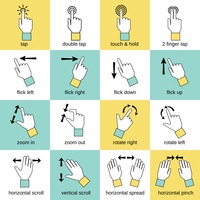 Touch pad hand gestures icons flat line set isolated vector illustration 60016003697| 写真素材・ストックフォト・画像・イラスト素材|アマナイメージズ