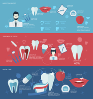 Teeth dental care mouth health banner set with inspection dentist treatment isolated vector illustration 60016003879| 写真素材・ストックフォト・画像・イラスト素材|アマナイメージズ