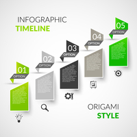 Abstract paper timeline infographics design template with origami style options and business icons vector illustration 60016003926| 写真素材・ストックフォト・画像・イラスト素材|アマナイメージズ