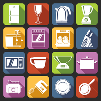 Kitchen appliances icons white set with microwave oven cup weights pot isolated vector illustration 60016003935| 写真素材・ストックフォト・画像・イラスト素材|アマナイメージズ