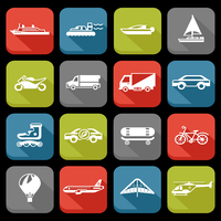 Transport flat icons set with roller skate balloon plane isolated vector illustration 60016003937| 写真素材・ストックフォト・画像・イラスト素材|アマナイメージズ