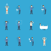 Hygiene icons flat set with people figures washing body cleaning isolated vector illustration 60016003944| 写真素材・ストックフォト・画像・イラスト素材|アマナイメージズ