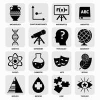 Science areas black icons set with archaeology quantum mechanics mathematics isolated vector illustration 60016004056| 写真素材・ストックフォト・画像・イラスト素材|アマナイメージズ