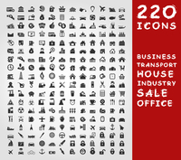 Collection of icons for design. A vector illustration 60016004107| 写真素材・ストックフォト・画像・イラスト素材|アマナイメージズ