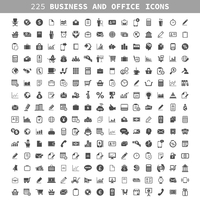 Collection of icons on a theme business and office. A vector illustration 60016004116| 写真素材・ストックフォト・画像・イラスト素材|アマナイメージズ