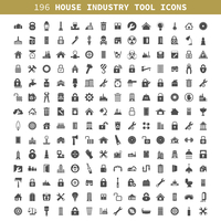 Collection of icons the house, the industry, the tool. A vector illustration 60016004121| 写真素材・ストックフォト・画像・イラスト素材|アマナイメージズ