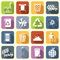 Garbage rubbish green recycling symbols flat interface icons set isolated vector illustration 60016004142| 写真素材・ストックフォト・画像・イラスト素材|アマナイメージズ