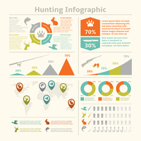 Hunting animals wildlife fishing infographics with diagrams charts for template design vector illustration 60016004144| 写真素材・ストックフォト・画像・イラスト素材|アマナイメージズ