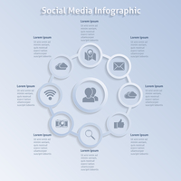 Internet social networking infographics design layout template in circles vector illustration 60016004149| 写真素材・ストックフォト・画像・イラスト素材|アマナイメージズ