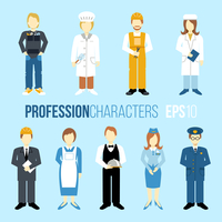 Business people professions cartoon characters set of manager engineer chef cook waitress stewardess isolated vector illustratio 60016004183| 写真素材・ストックフォト・画像・イラスト素材|アマナイメージズ