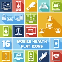 Mobile health medicines delivery x-ray monitoring icons flat set isolated vector illustration 60016004213| 写真素材・ストックフォト・画像・イラスト素材|アマナイメージズ