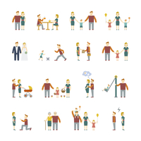 Family figures flat icons set of parents children married couple isolated vector illustration 60016004225| 写真素材・ストックフォト・画像・イラスト素材|アマナイメージズ
