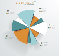 Business pie chart for documents and reports for documents, reports, graph, infographic, business plan, education 60016004823| 写真素材・ストックフォト・画像・イラスト素材|アマナイメージズ