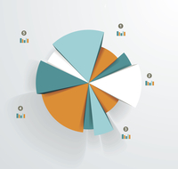 Business pie chart for documents and reports for documents, reports, graph, infographic, business plan, education 60016004838| 写真素材・ストックフォト・画像・イラスト素材|アマナイメージズ