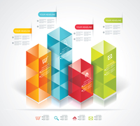 Modern Design template isometric style. Can be used for workflow layout; diagram; number options; step up options; web design; b 60016005339| 写真素材・ストックフォト・画像・イラスト素材|アマナイメージズ