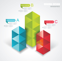 Modern Design template isometric style. Can be used for workflow layout; diagram; number options; step up options; web design; b 60016005359| 写真素材・ストックフォト・画像・イラスト素材|アマナイメージズ