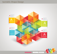 Modern Design template isometric style. Can be used for workflow layout; diagram; number options; step up options; web design; b 60016005361| 写真素材・ストックフォト・画像・イラスト素材|アマナイメージズ