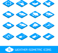 Weather forecast white and blue isometric icons buttons set vector illustration 60016006095| 写真素材・ストックフォト・画像・イラスト素材|アマナイメージズ