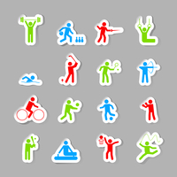 Decorative gymnastics soccer volley ball sport competitions design network symbols pictograms collection flat isolated vector il 60016006143| 写真素材・ストックフォト・画像・イラスト素材|アマナイメージズ