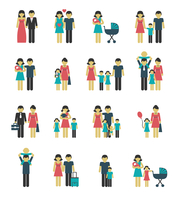 Family figures icons set of parents children married couple isolated vector illustration 60016006475| 写真素材・ストックフォト・画像・イラスト素材|アマナイメージズ