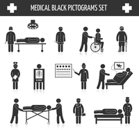Medical hospital ambulance emergency healthcare tests and services black pictograms set isolated vector illustration 60016006623| 写真素材・ストックフォト・画像・イラスト素材|アマナイメージズ