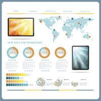modern web site editable template 60016007071  写真素材・ストックフォト・画像・イラスト素材 アマナイメージズ