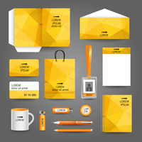 Yellow geometric technology business stationery template for corporate identity and branding set vector illustration 60016007124| 写真素材・ストックフォト・画像・イラスト素材|アマナイメージズ