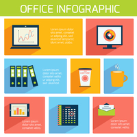 Office infographics flat business template with stationery supplies vector illustration 60016007125| 写真素材・ストックフォト・画像・イラスト素材|アマナイメージズ