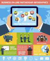 Global business partnership infographics set with tablet and world map vector illustration 60016007171  写真素材・ストックフォト・画像・イラスト素材 アマナイメージズ