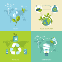 Ecology clean our planet recycling green energy concept icons set isolated vector illustration. 60016007172| 写真素材・ストックフォト・画像・イラスト素材|アマナイメージズ