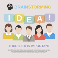 Brainstorming concept with people avatars sharing their ideas vector illustration 60016007178| 写真素材・ストックフォト・画像・イラスト素材|アマナイメージズ