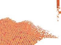Vector illustration of organic wave surface made of orange squares 60016007724| 写真素材・ストックフォト・画像・イラスト素材|アマナイメージズ