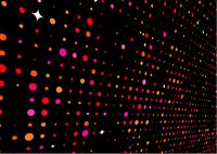 Vector illustration of disco lights dots pattern on black background 60016007737| 写真素材・ストックフォト・画像・イラスト素材|アマナイメージズ
