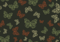 Vector illustration of many funky hand-drawn butterflies of different size  flying around  . Seamless Pattern. 60016007750| 写真素材・ストックフォト・画像・イラスト素材|アマナイメージズ