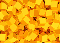 Vector illustration of style orange seamless background made of many funky cubes 60016007757| 写真素材・ストックフォト・画像・イラスト素材|アマナイメージズ
