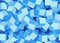 Vector illustration of style blue seamless background made of many funky cubes 60016007758| 写真素材・ストックフォト・画像・イラスト素材|アマナイメージズ