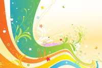 Vector illustration of style floral spring background 60016007874| 写真素材・ストックフォト・画像・イラスト素材|アマナイメージズ
