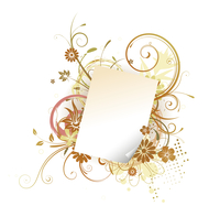 Vector illustration of Grunge Floral Background with paper leaf frame 60016007911| 写真素材・ストックフォト・画像・イラスト素材|アマナイメージズ