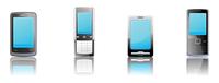 Vector illustration set of elegant black communication device icons 60016008068  写真素材・ストックフォト・画像・イラスト素材 アマナイメージズ