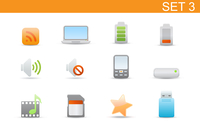 Vector illustration set of elegant simple icons for common computer and media devices functions.Set-3 60016008114  写真素材・ストックフォト・画像・イラスト素材 アマナイメージズ
